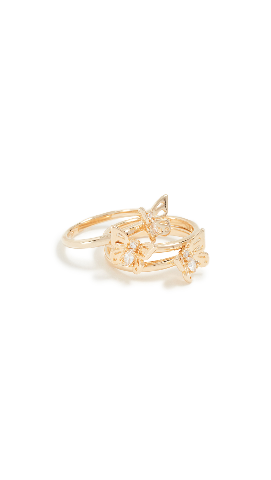 SOCIAL BUTTERFLY STACKABLE RING SET