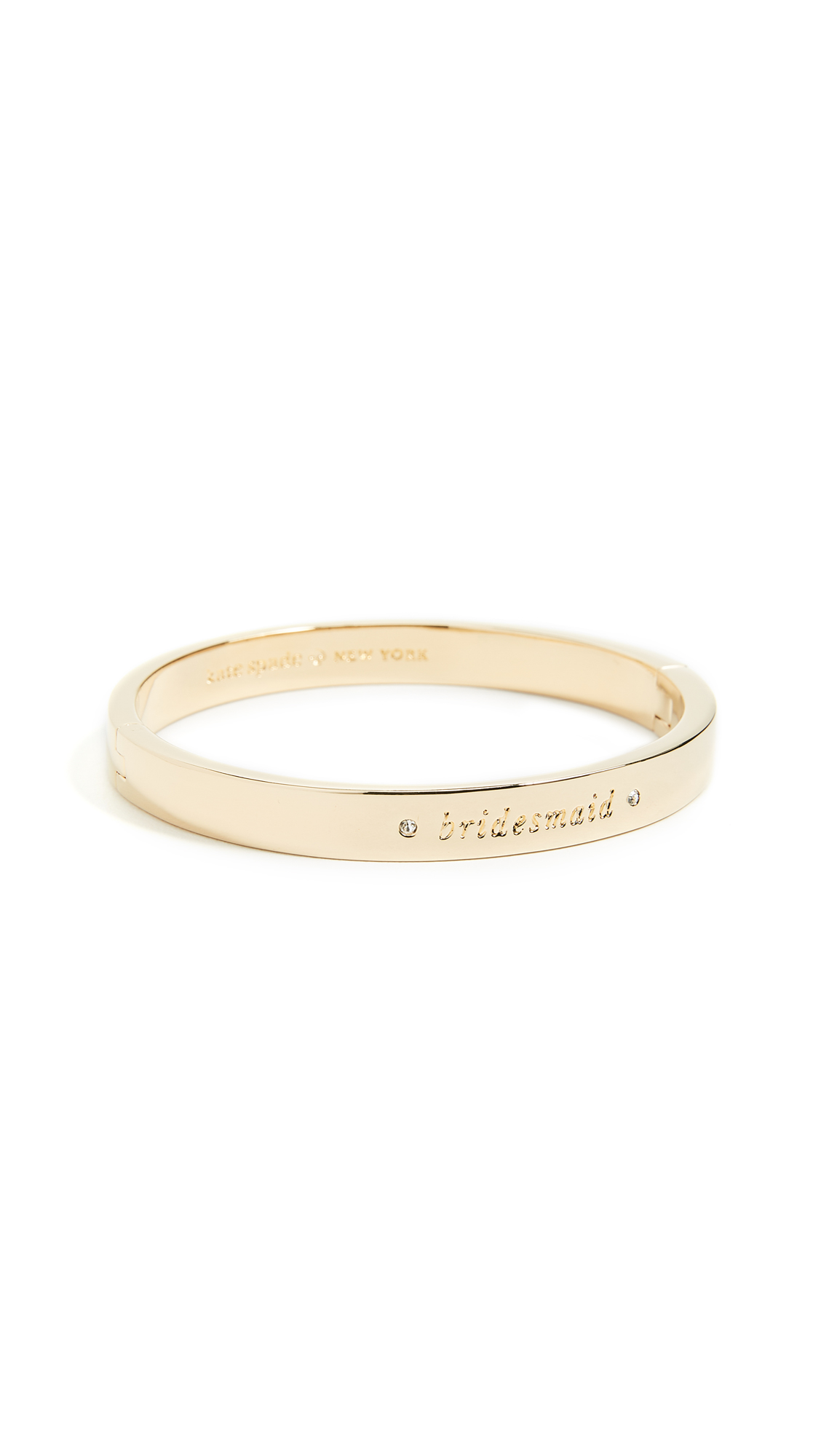 Kate Spade New York Her Day to Shine Bridesmaid Bangle - Clear/Gold