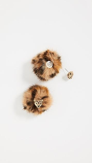 Kate Spade New York Cheetah Reversible Earrings
