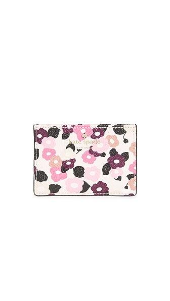 Kate Spade New York Hyde Lane Floral Card Holder In Rose Dew
