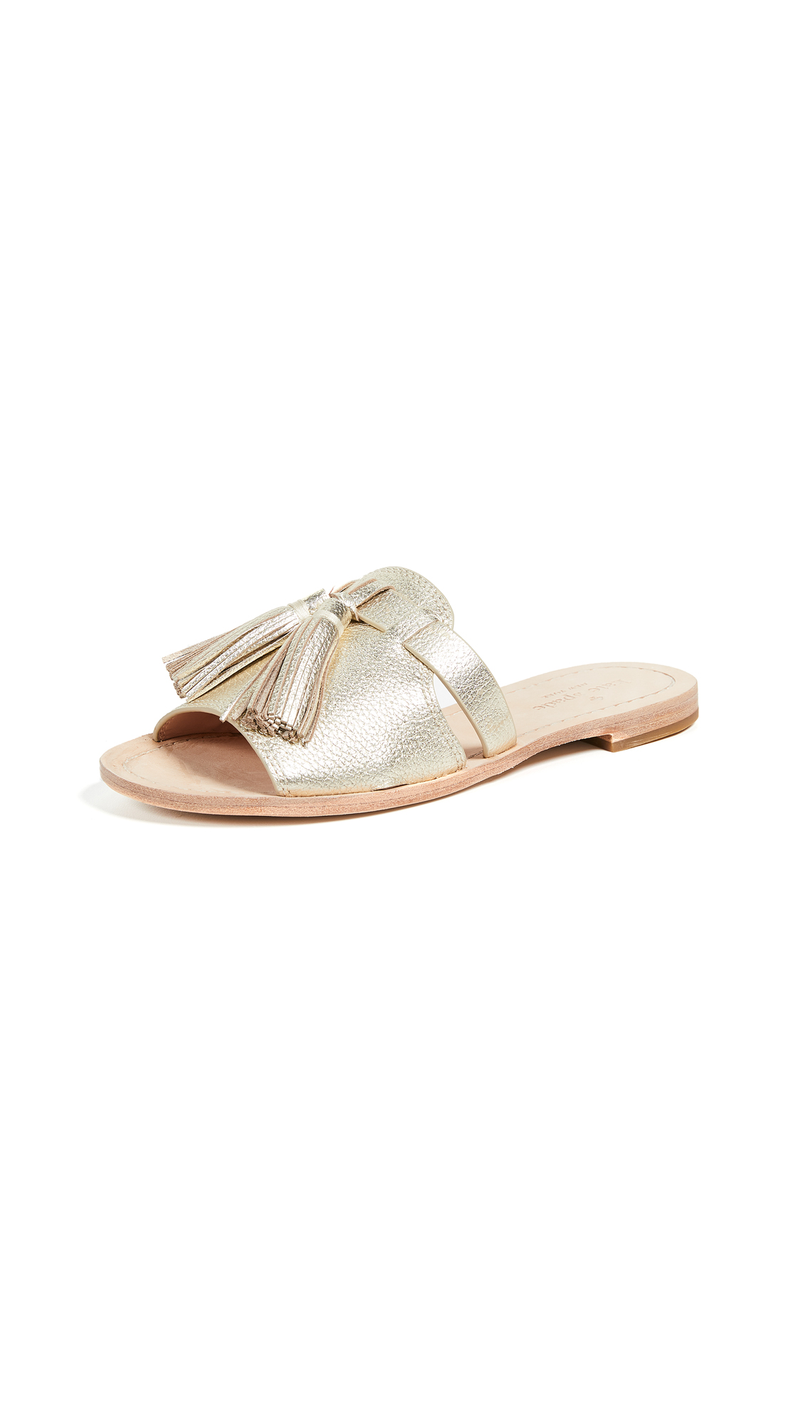 Kate Spade New York Coby Slides - Gold Metallic