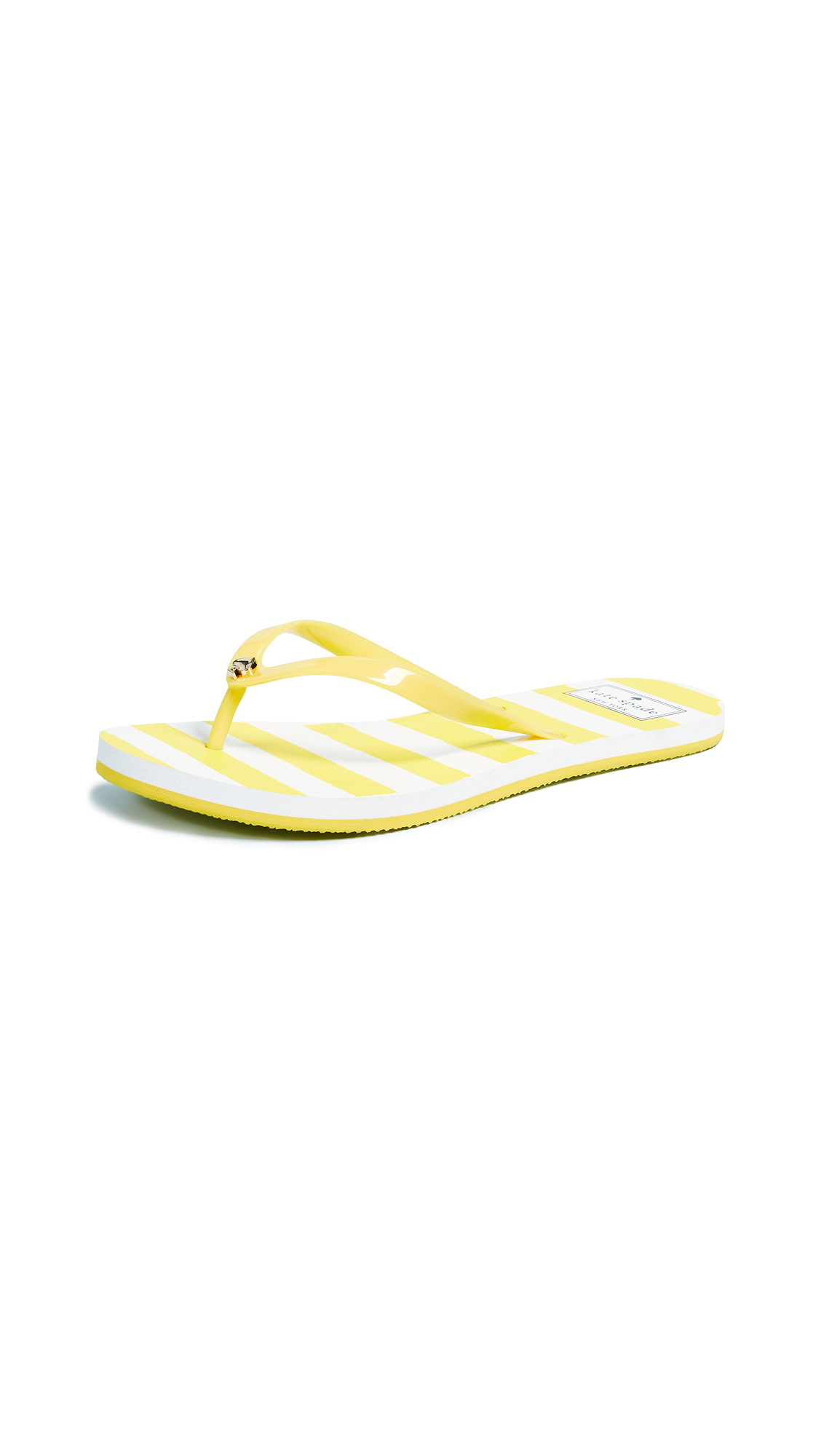 Kate Spade New York Nassau Flip Flops - Yellow/White Stripes