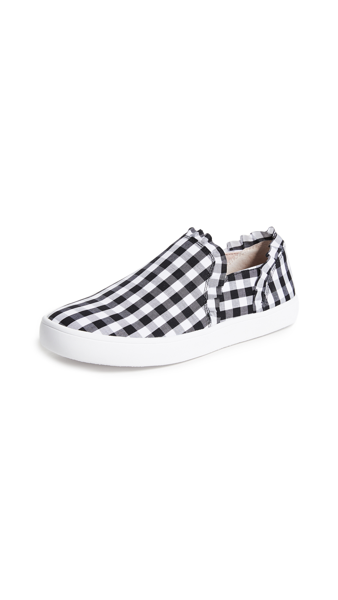 Kate Spade New York Lilly Gingham Sneakers - Black/White