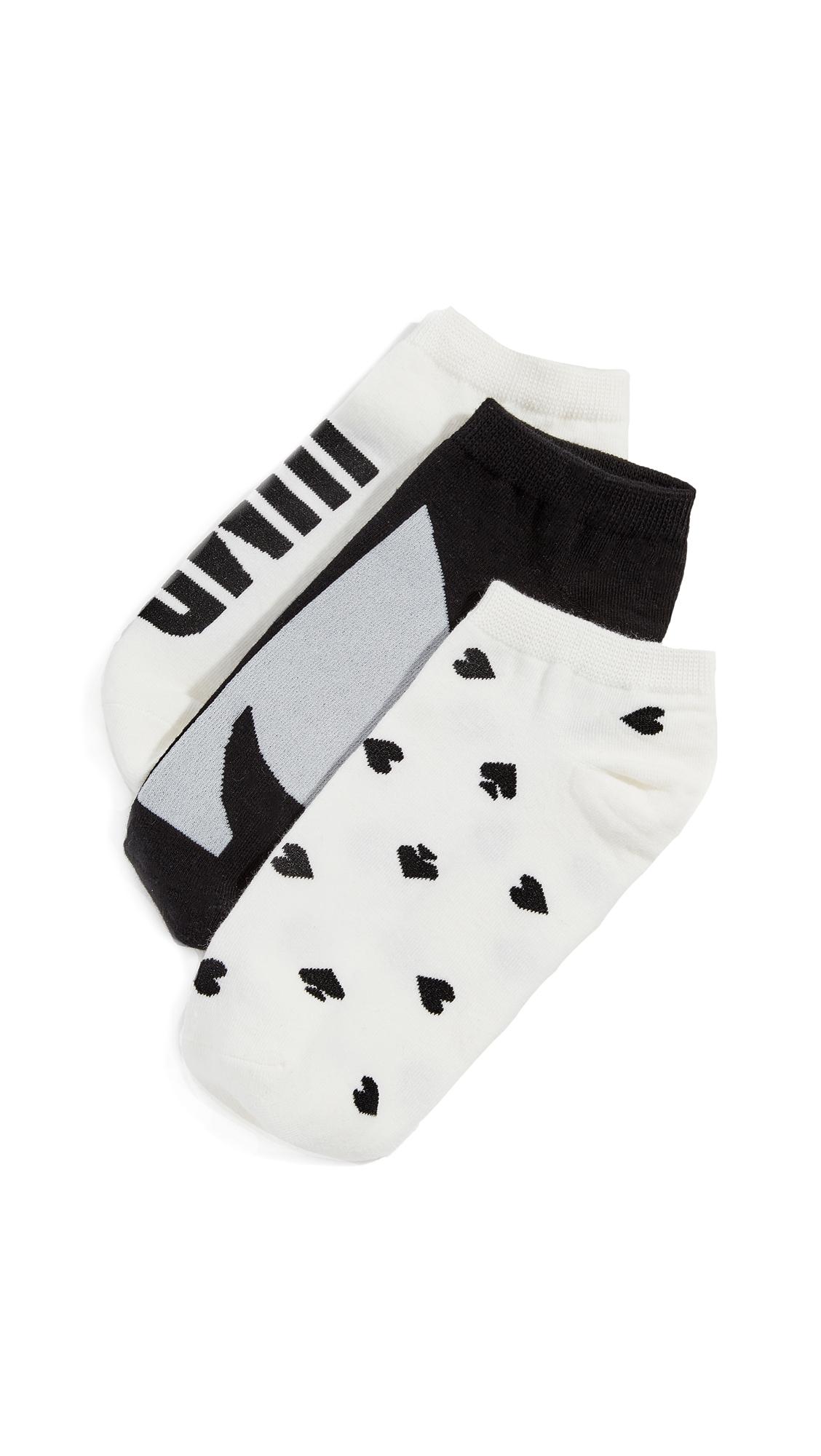 Kate Spade New York Three Pack Jump for Joy Socks In Cream