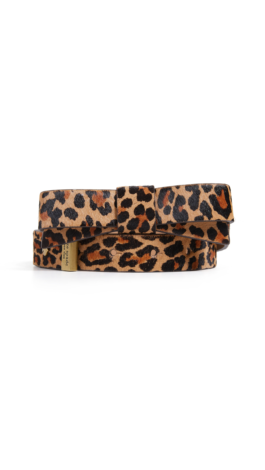 Hair Calf Bow Belt in Leopard