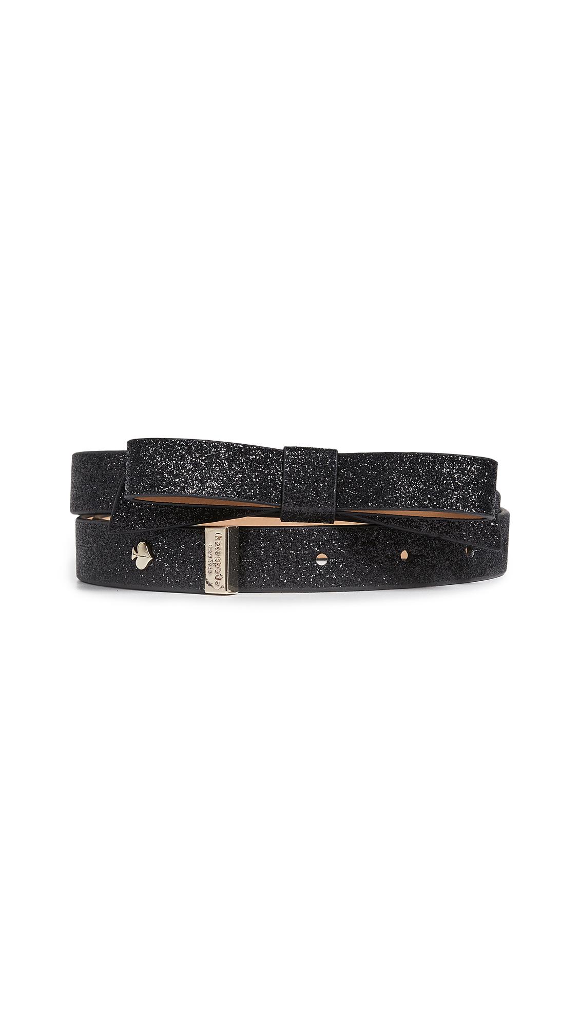 Glitter Bow Belt, Black/Gold