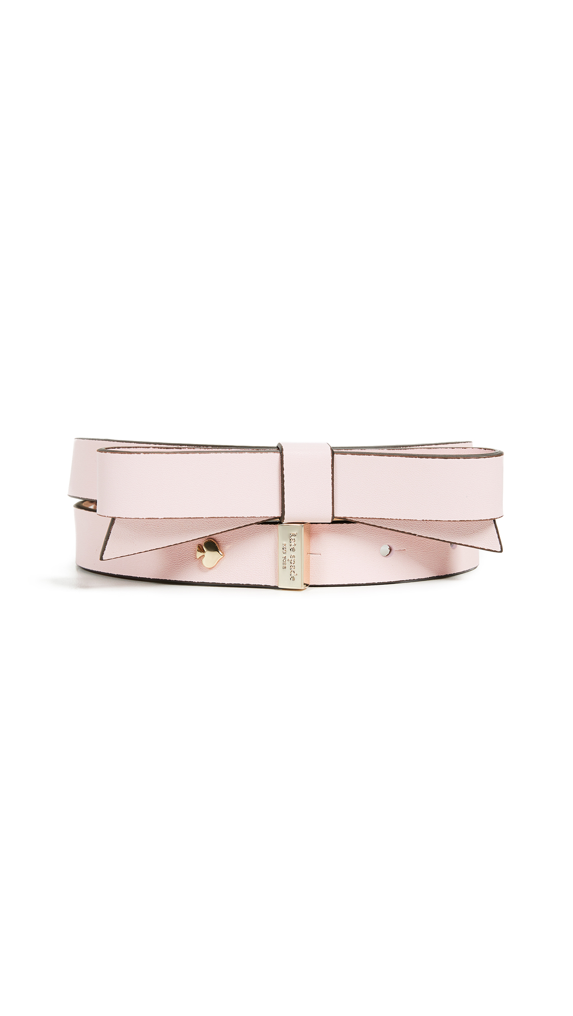 Smooth Bow Belt, Pink