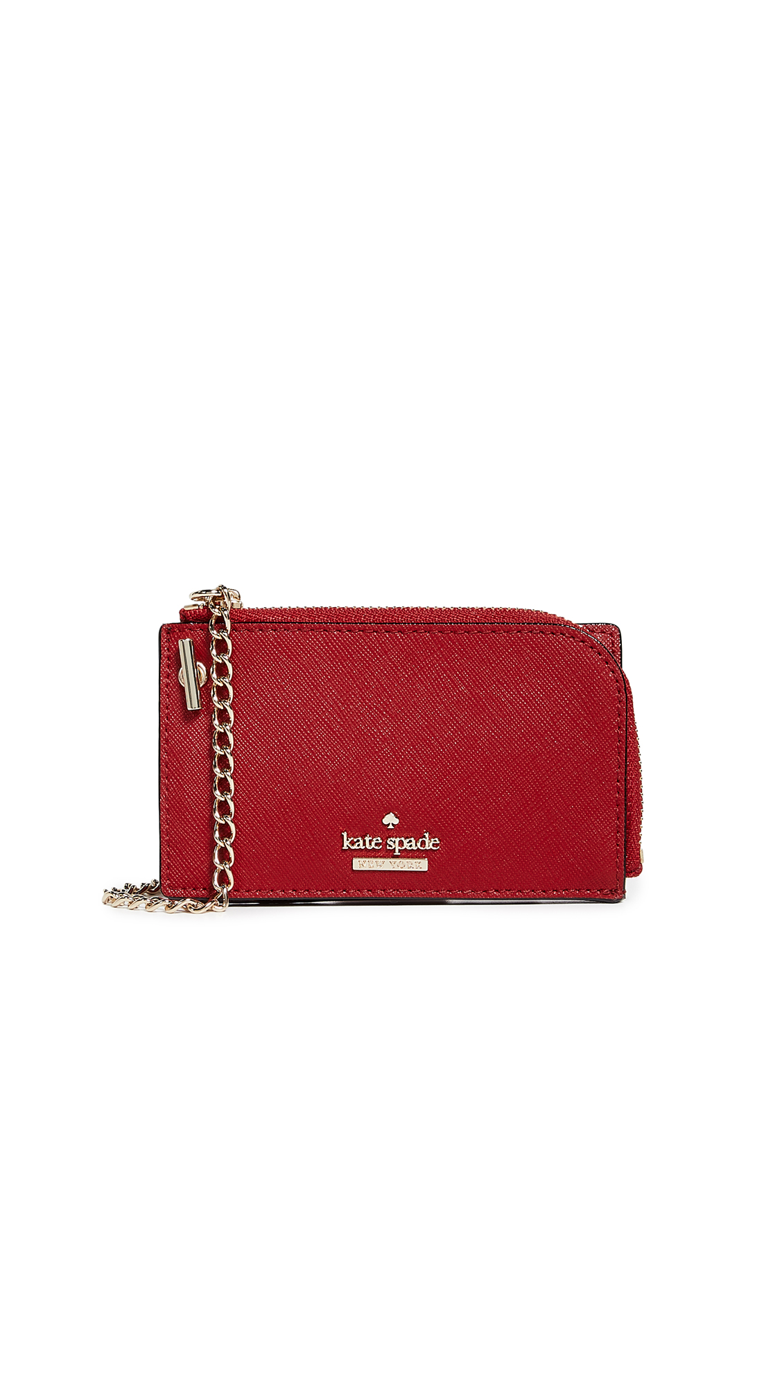 Cameron Street Ivey Card Case With Key Ring, Heirloom Red