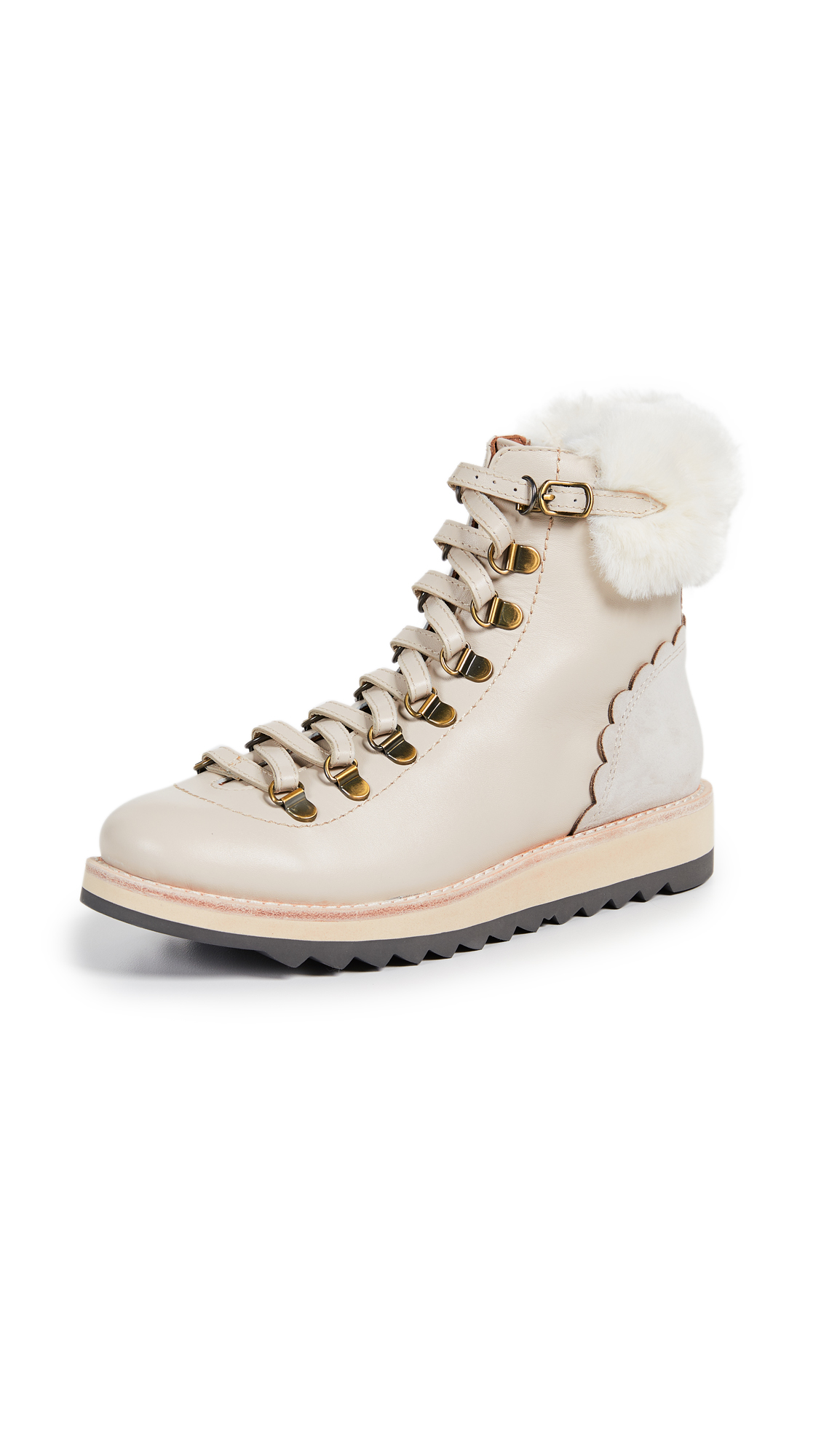 Kate Spade New York Maira Combat Boots - Off White