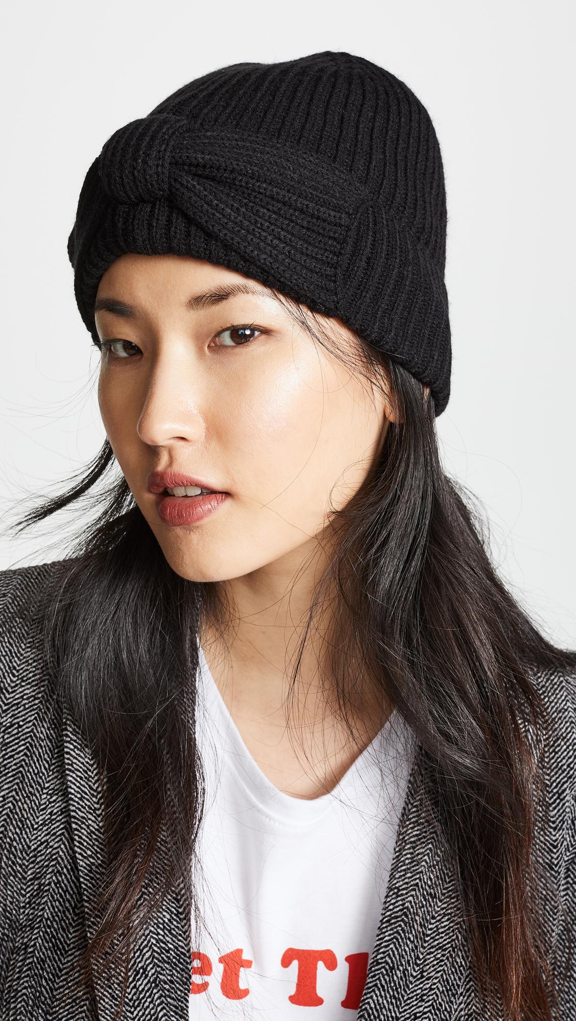 4a6a004cda6 Kate Spade New York Solid Bow Beanie Hat