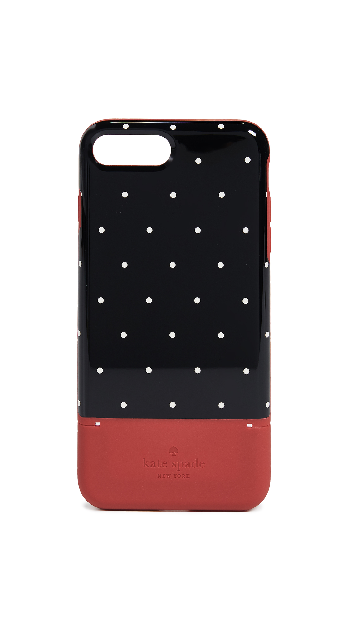 Dot Credit Card Iphone 7 Plus / 8 Plus Case in Heirloom Red
