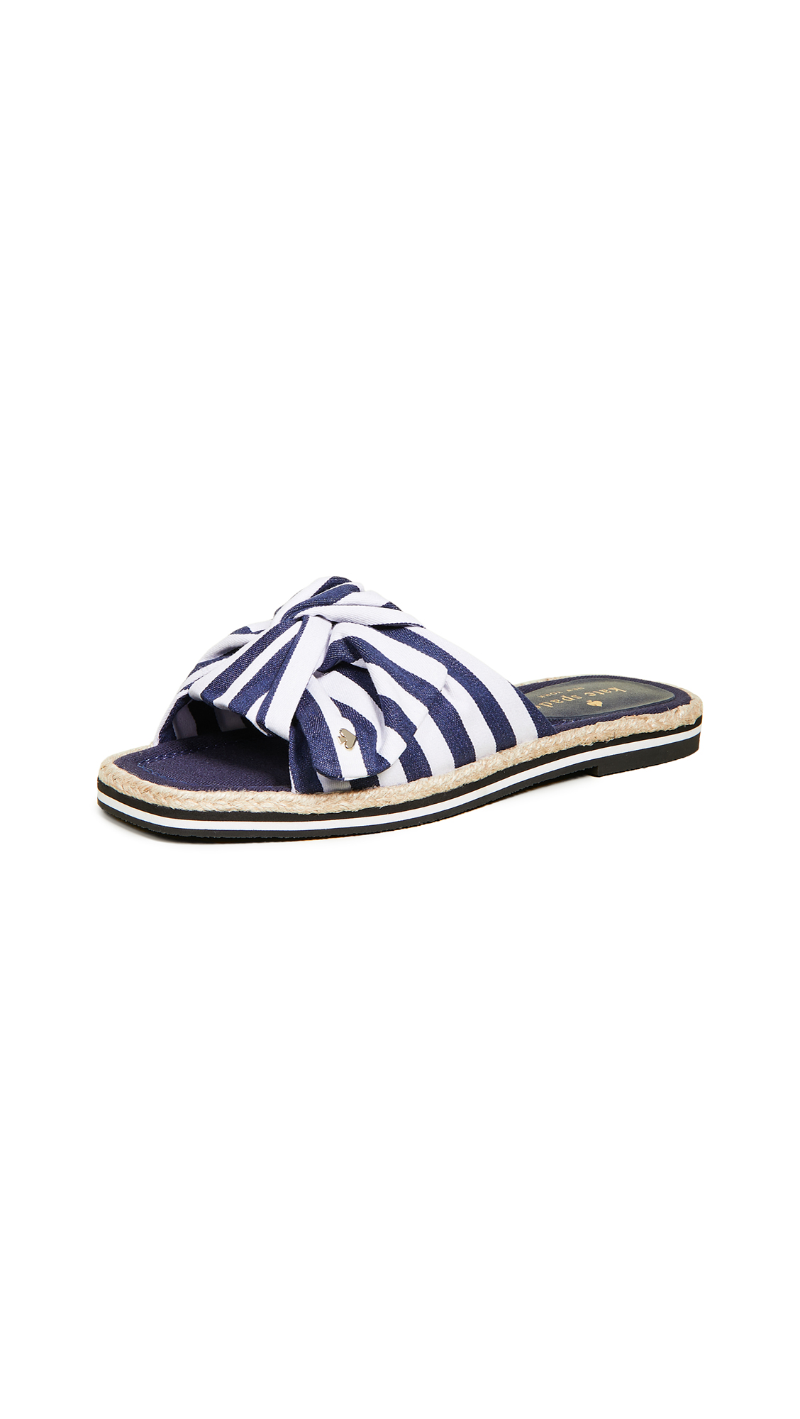 Kate Spade New York Caliana Striped Slides - Navy/White
