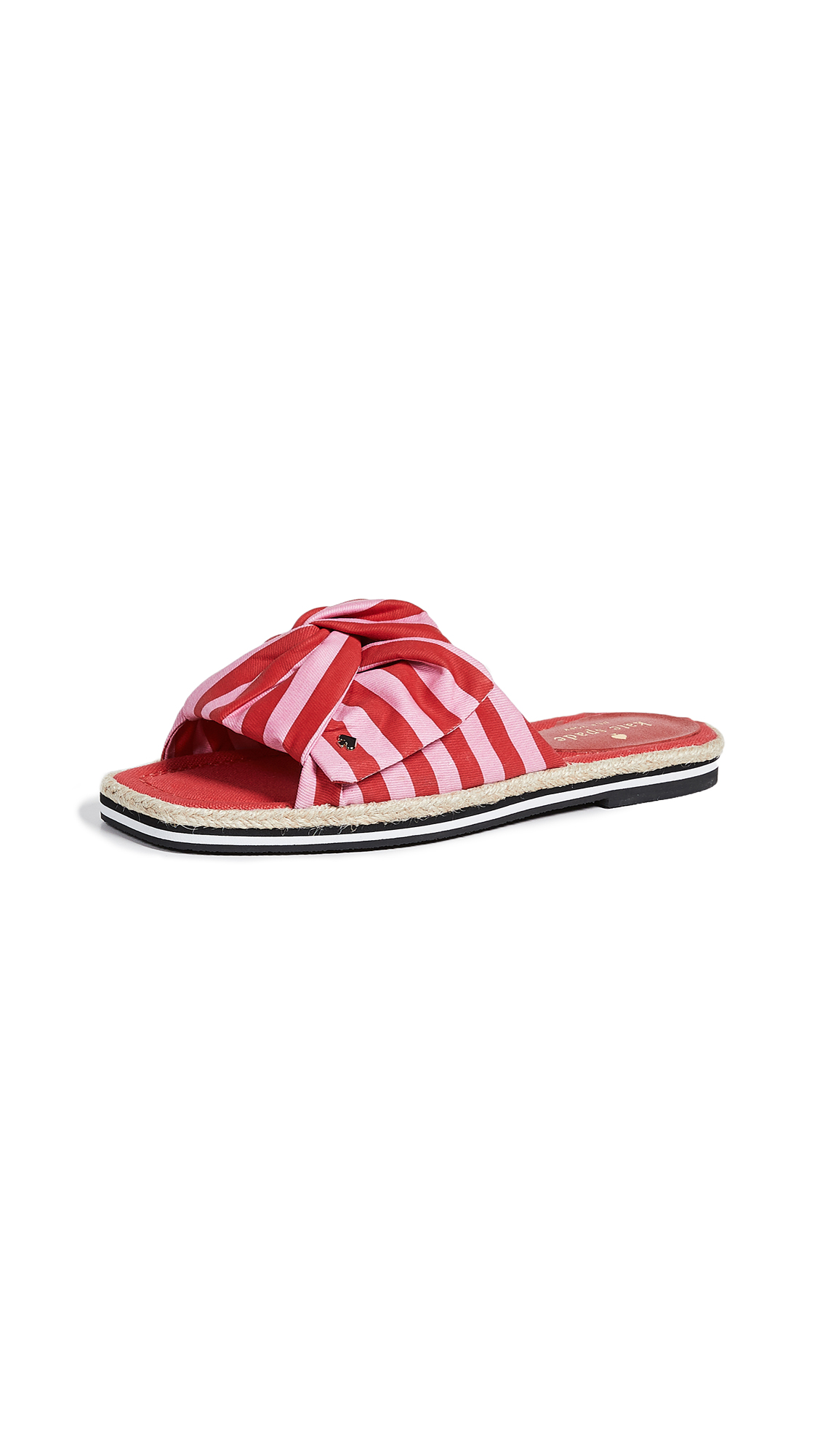 Kate Spade New York Caliana Striped Slides - Pink/Red