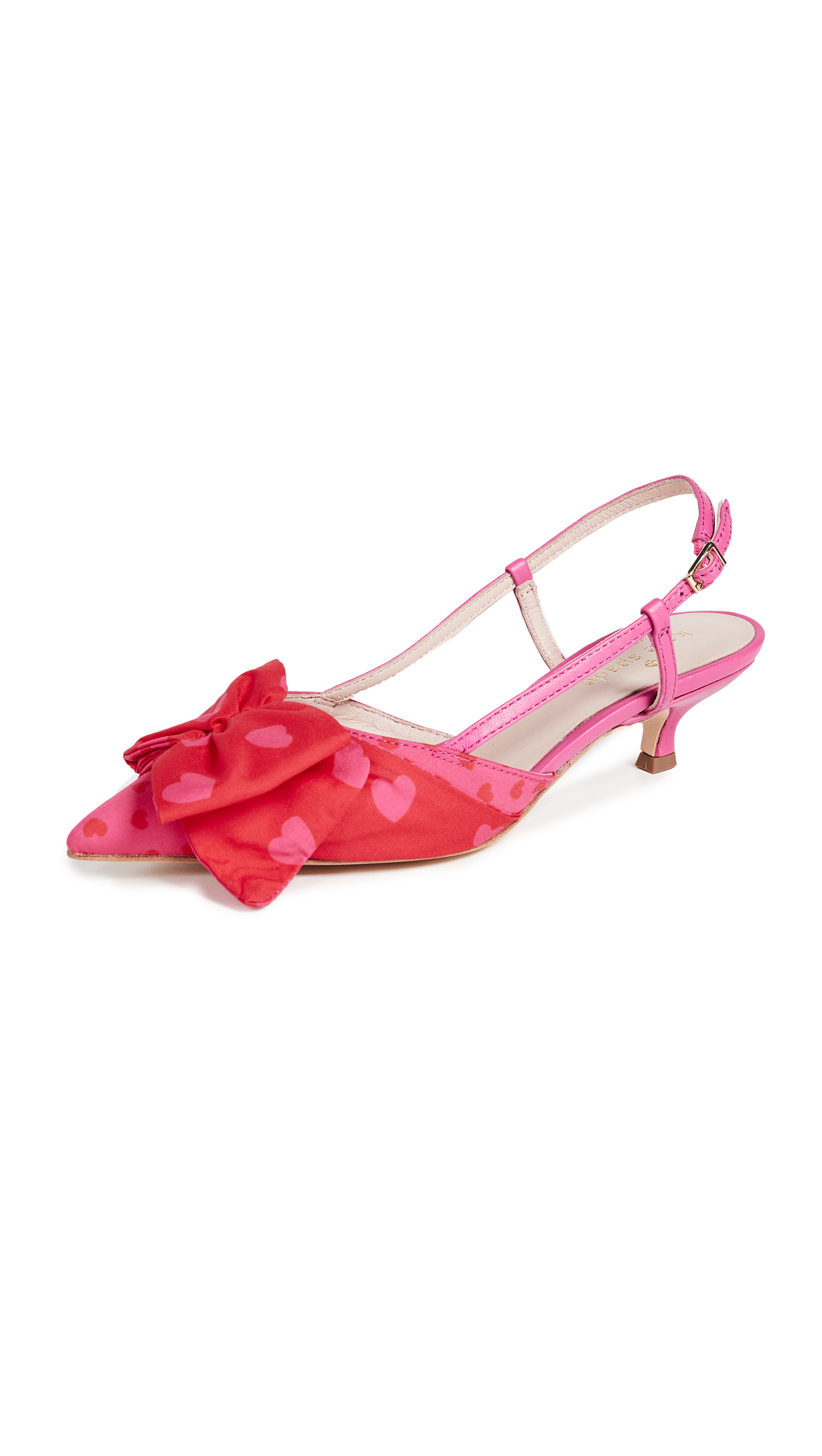 Kate Spade New York Daxton Kitten Heel Slingbacks - Begonia/Engine Red
