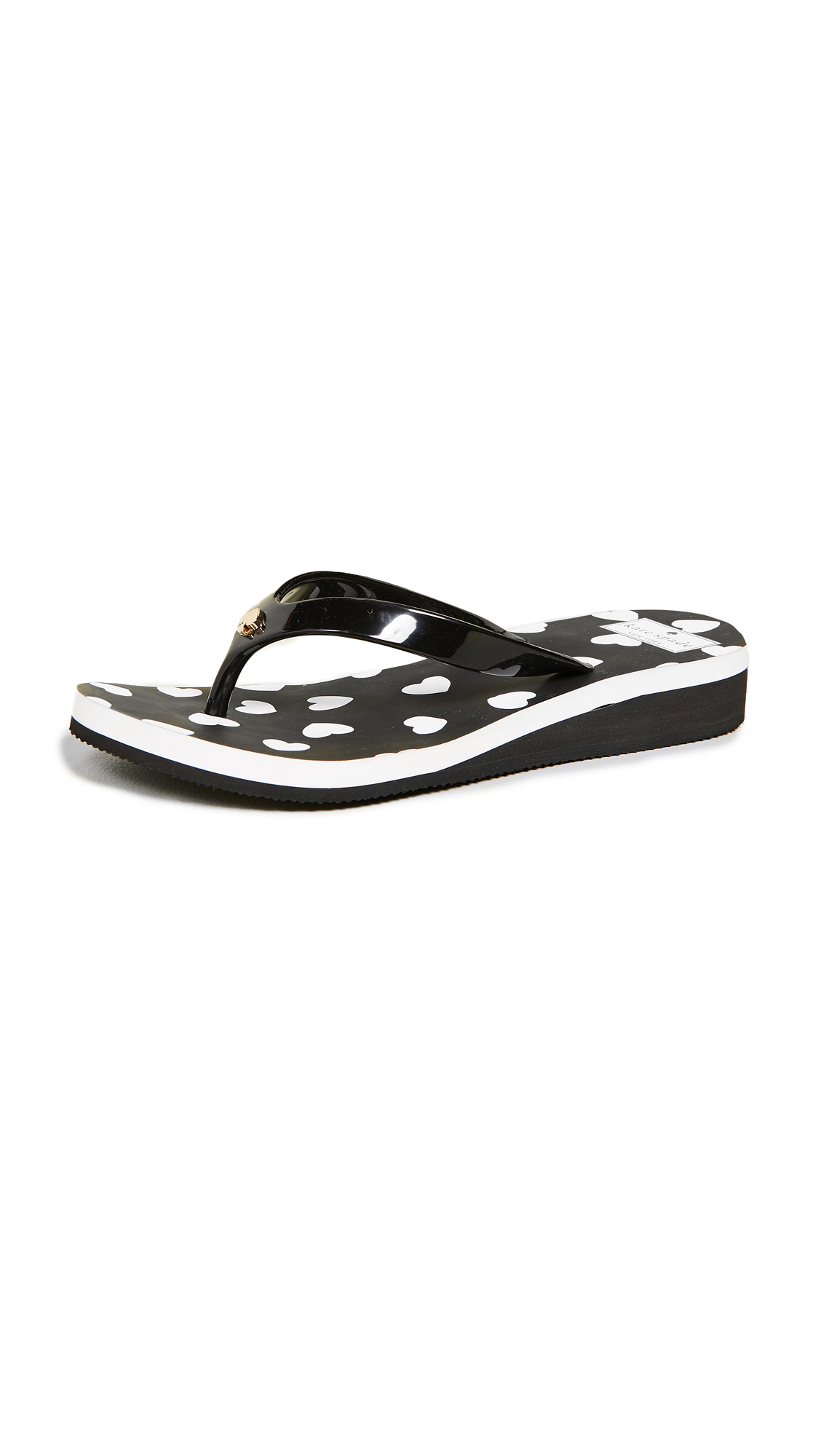 Milli Flip-Flop Sandals in Black/White from Kate Spade