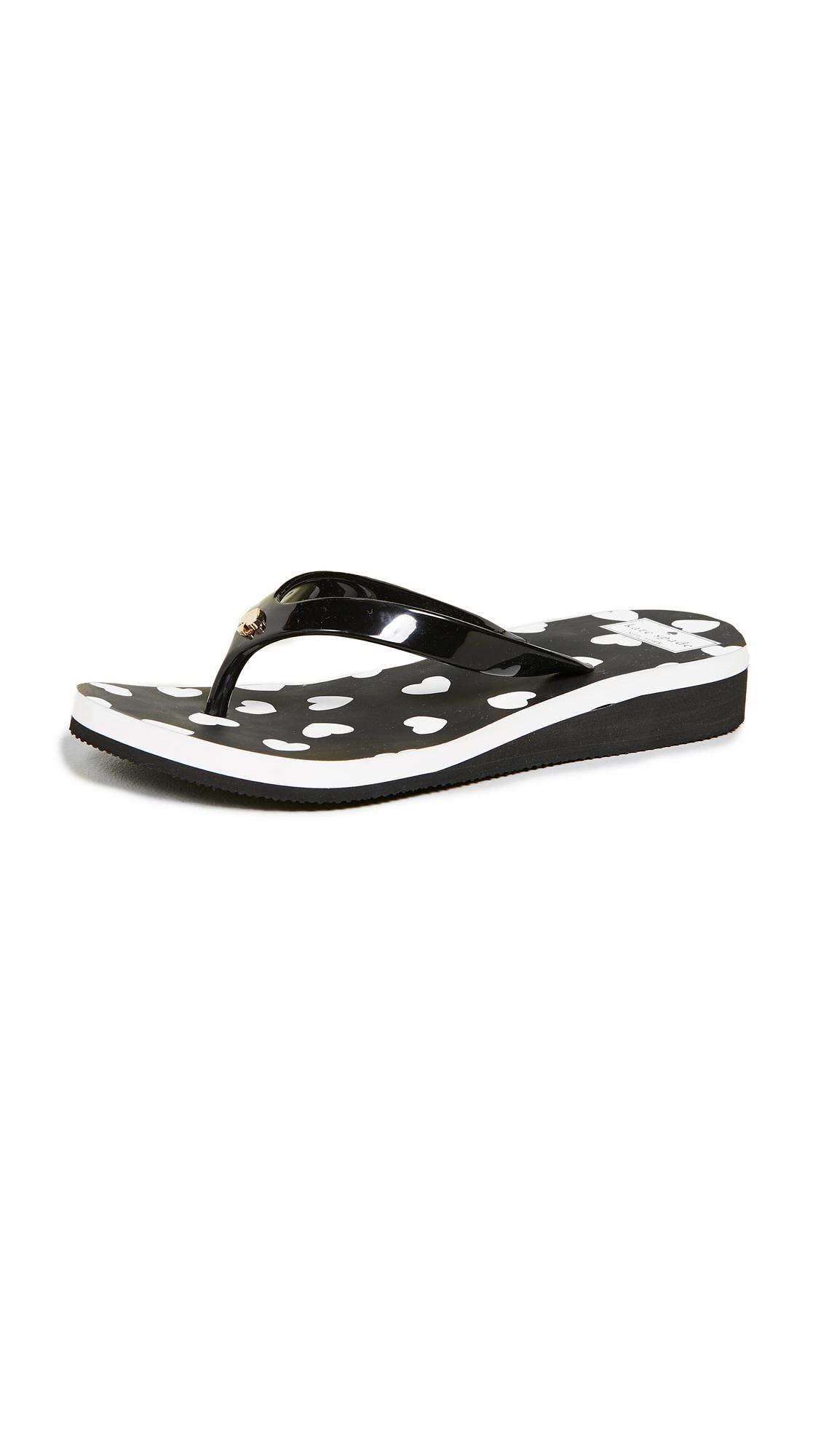Kate Spade New York Milli Flip Flops - Black/White
