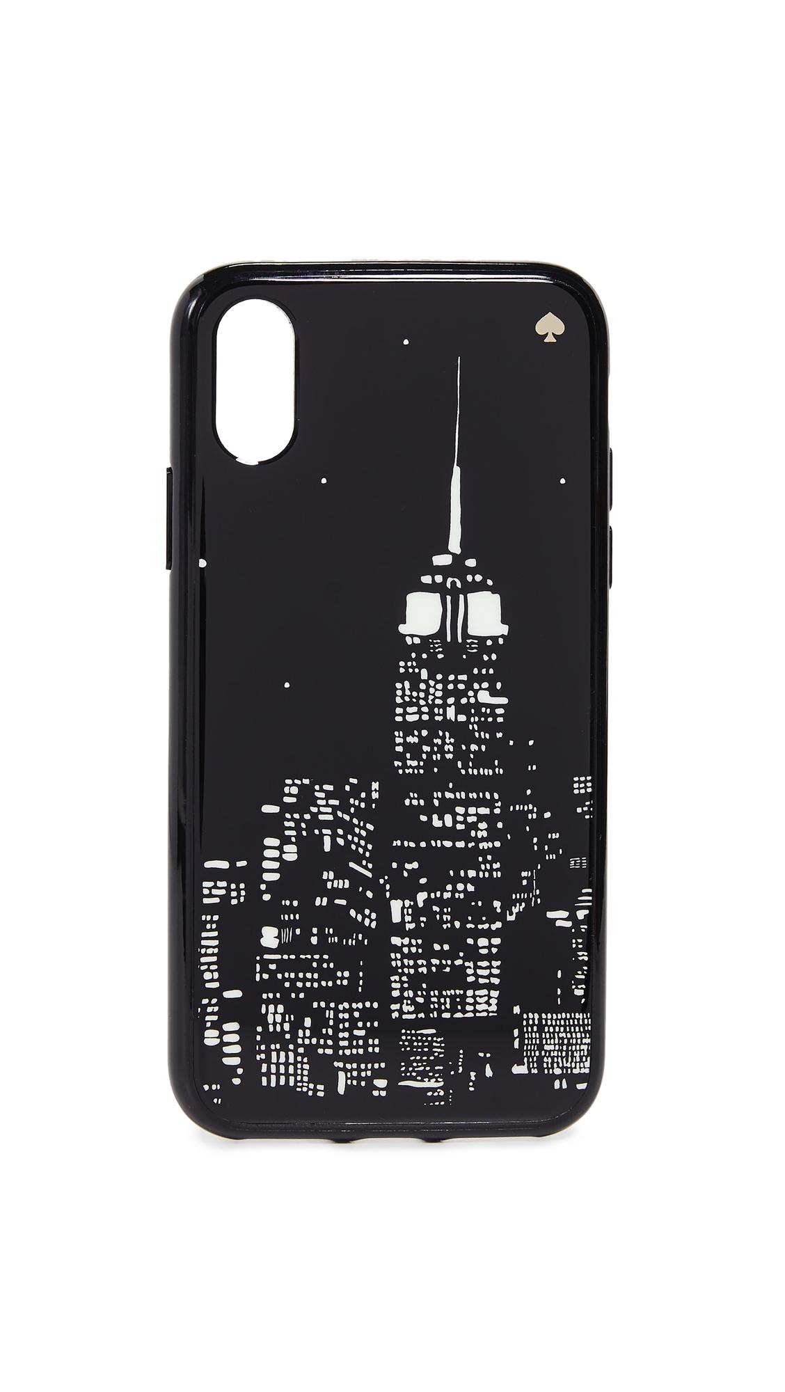 Glow In The Dark Skyline Iphone X / Xs Case in Black Multi