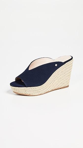 Kate Spade Women's Thea Wedge Platform Sandals In Navy