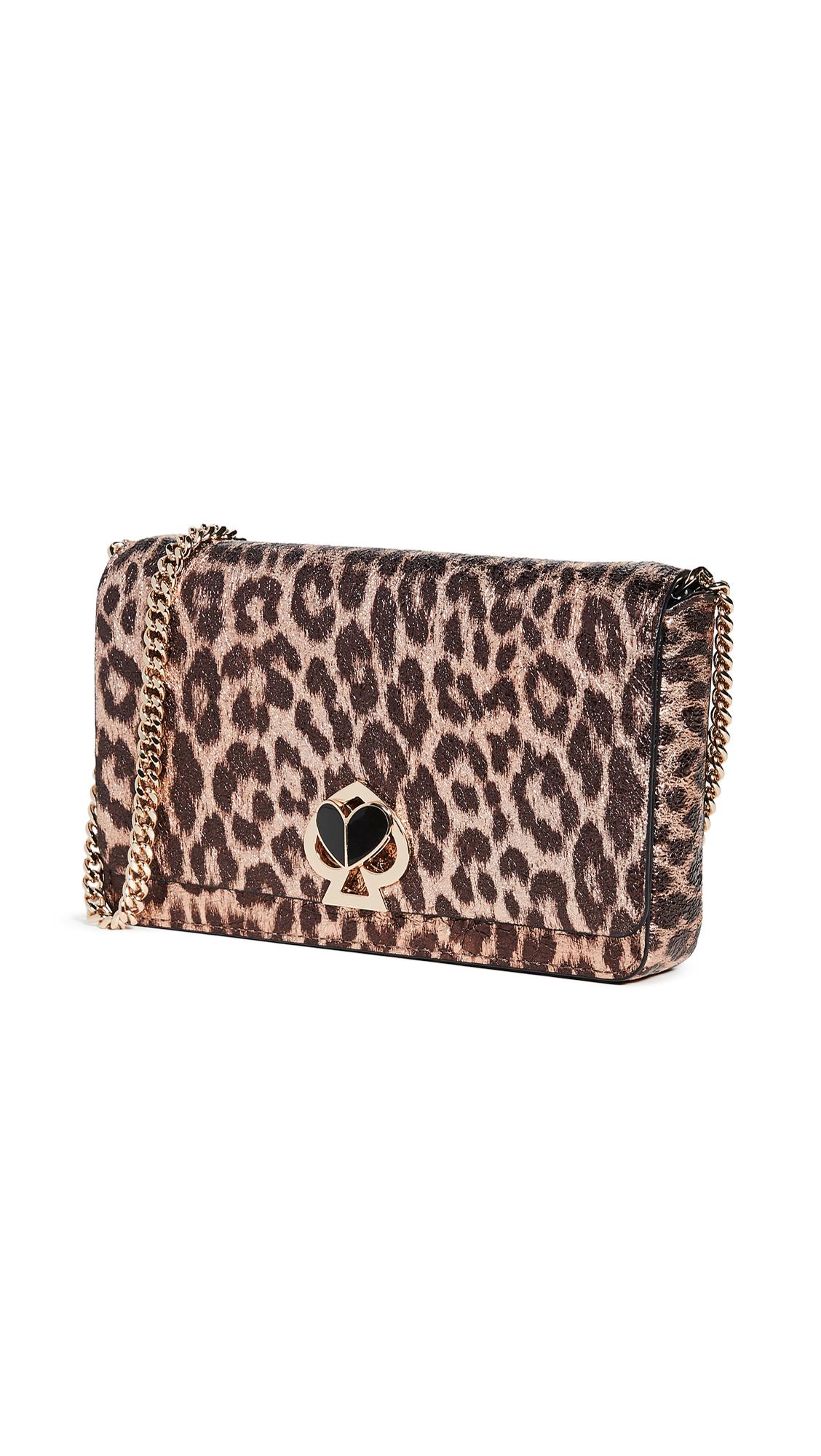 Buy Kate Spade New York online - photo of Kate Spade New York Nicola Metallic Leopard Chain Wallet