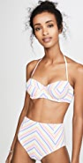 Kate Spade New York Beach Stripe Underwire Bikini Top