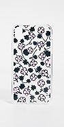 Kate Spade New York 镶珠宝花卉涂鸦 iPhone 手机壳
