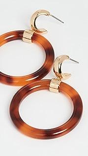 Kate Spade New York Полимерные серьги-кольца Botanical Garden