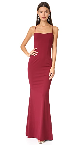 Katie May Jean Lace Up Dress In Bordeaux