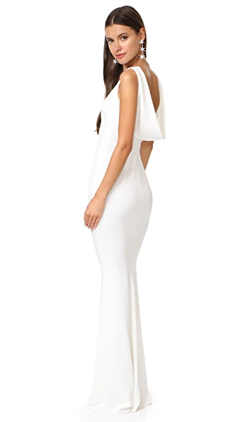 Katie May Vionnet Gown In Ivory