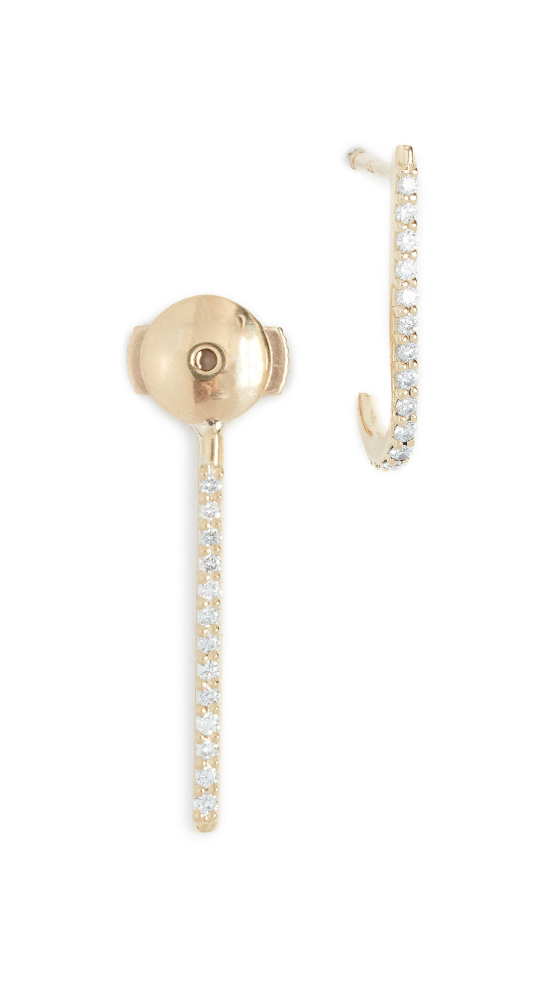 KAT KIM 18K Petite Diamond Ear Pin in Gold/Diamond