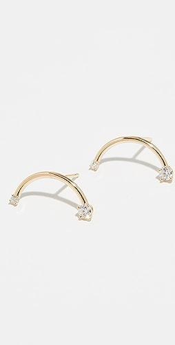 59077c1f1 18k Diamond Harpe Earrings