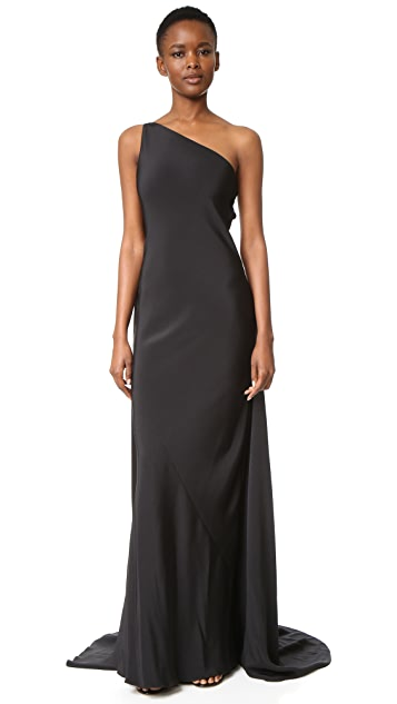 KAUFMANFRANCO One Shoulder Gown