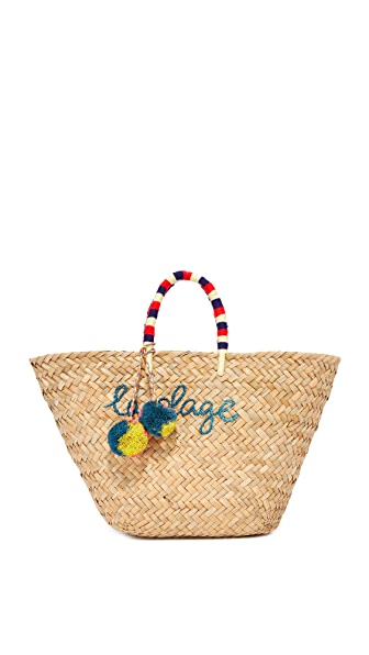 Kayu La Plage Tote In Natural Multi