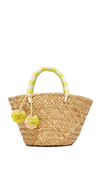 Kayu Mini St Tropez Tote - Yellow/White