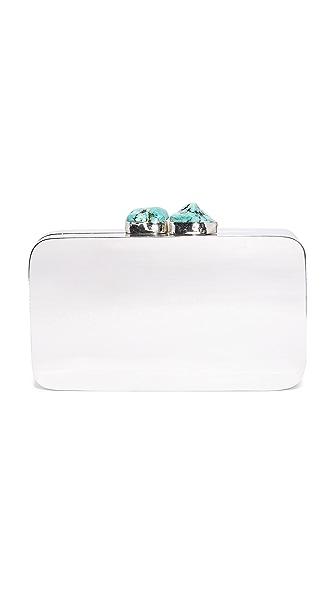 Kayu Aloft Clutch - Silver/Turquoise