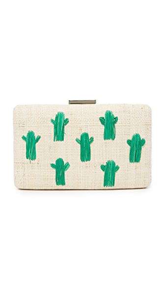 Kayu Cactus Clutch - Green