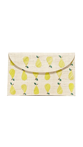 Kayu Pear Clutch - Natural