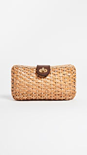 Kayu Crete Wicker Clutch