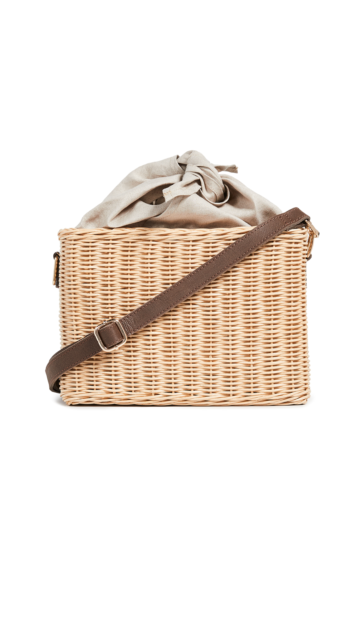 Kayu Reece Straw Wicker Bag In Natural