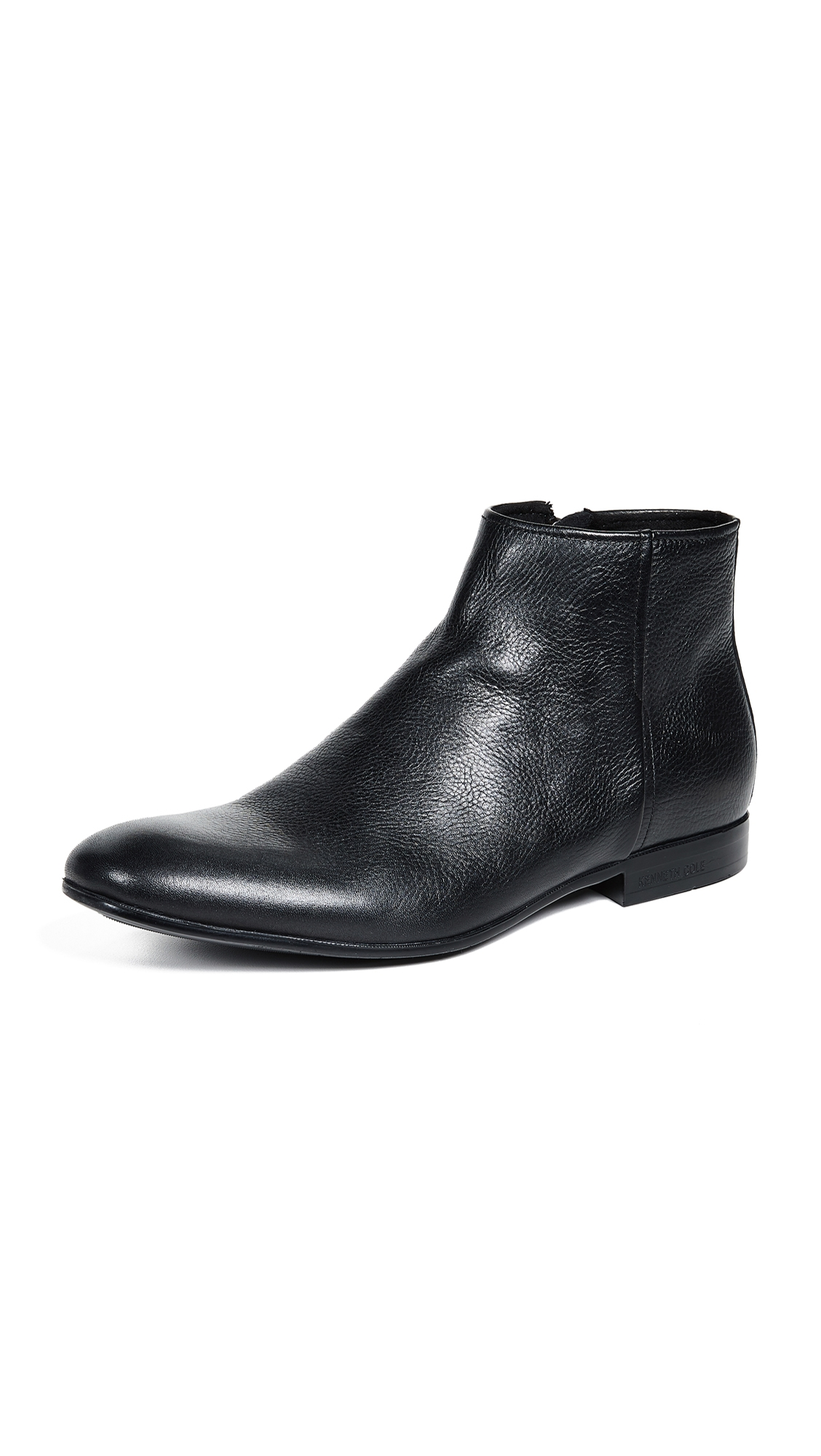 KENNETH COLE Men'S Mix Leather Zip Boots in Black