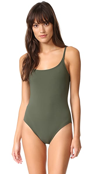 Karla Colletto Skinny Scoop One Piece - Military