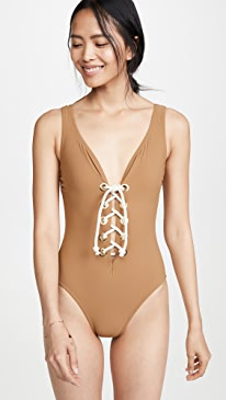 e3c98709564 Karla Colletto. Colette V Neck One PIece