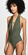 Karla Colletto Isla Low Back Plunge One Piece