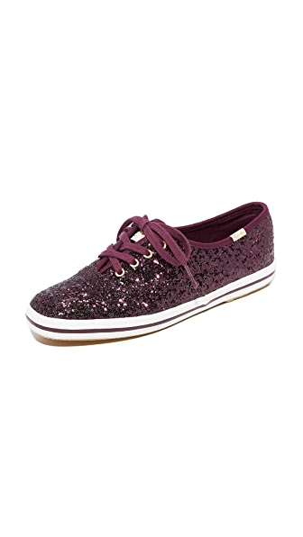 Keds x Kate Spade New York Glitter Sneakers - Deep Cherry