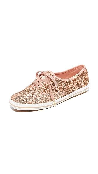 Keds x Kate Spade New York Glitter Sneakers - Rose Gold
