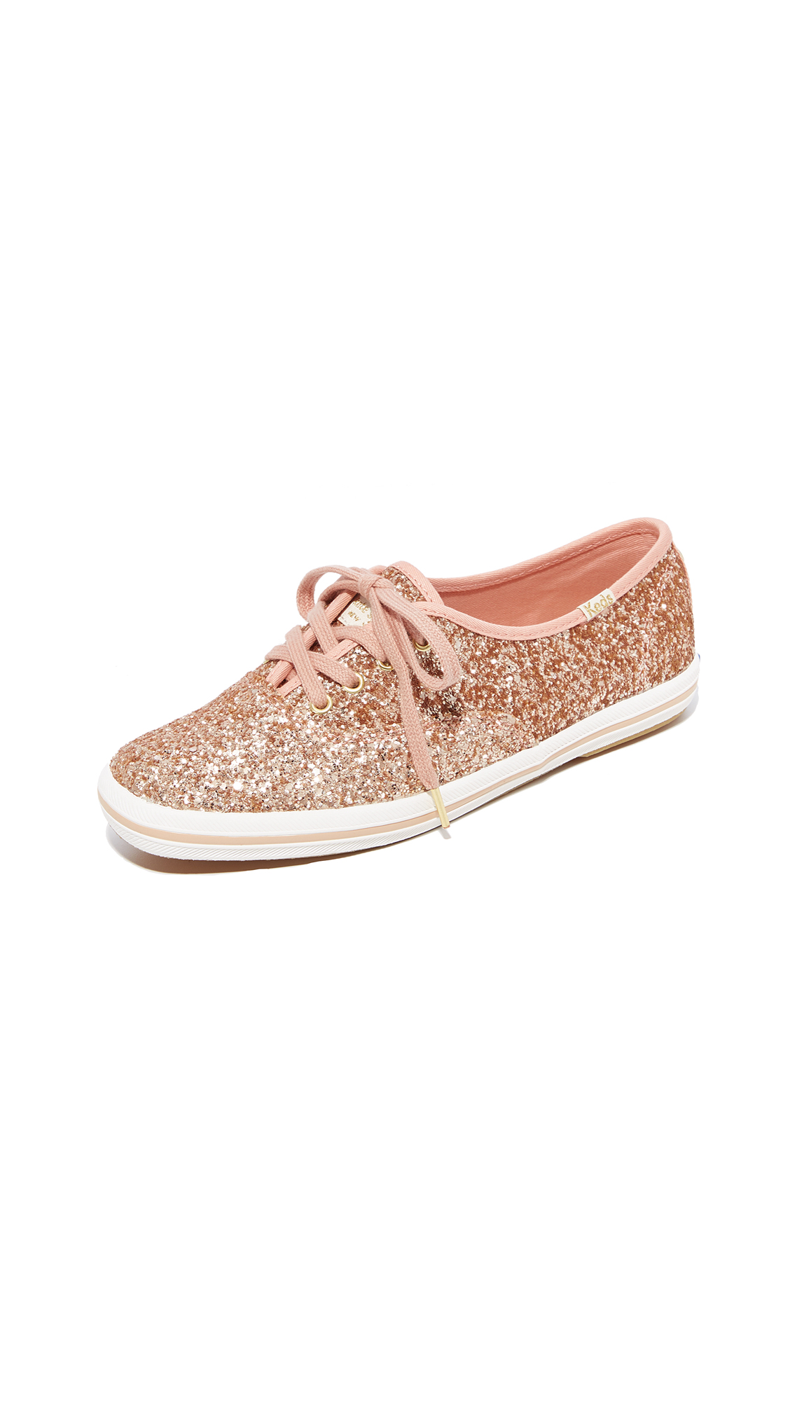 Keds x Kate Spade New York Glitter Sneakers - Rose Gold