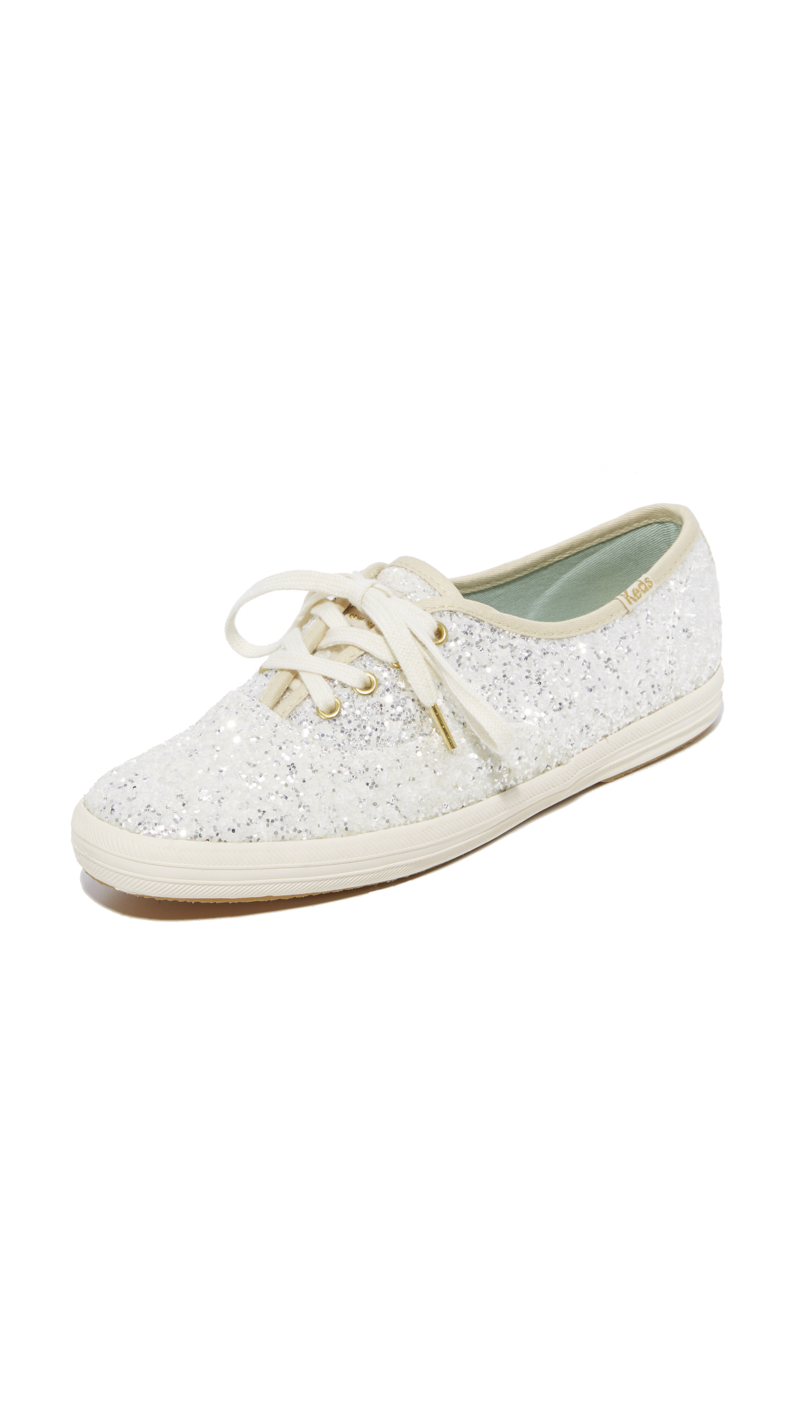 Keds x Kate Spade New York Glitter Sneakers - Cream