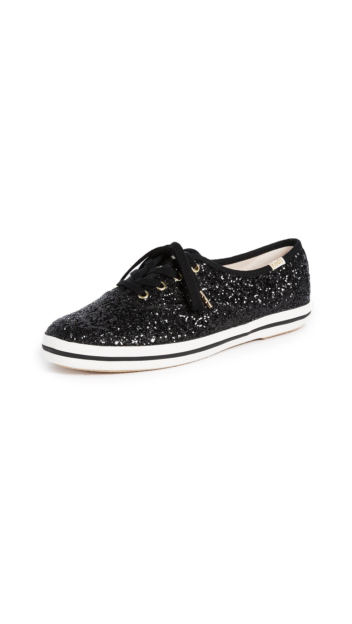 Keds x Kate Spade New York Glitter Sneakers - Black