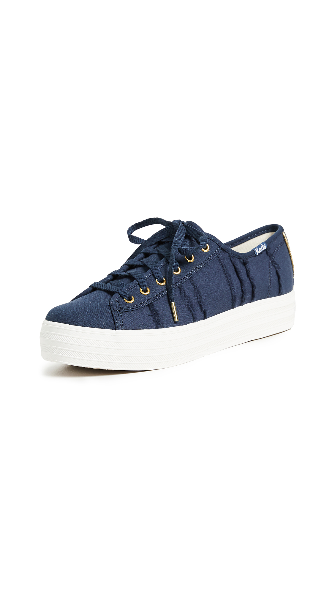 Keds Triple Kick Eyelash Lace Up Sneakers - Indigo