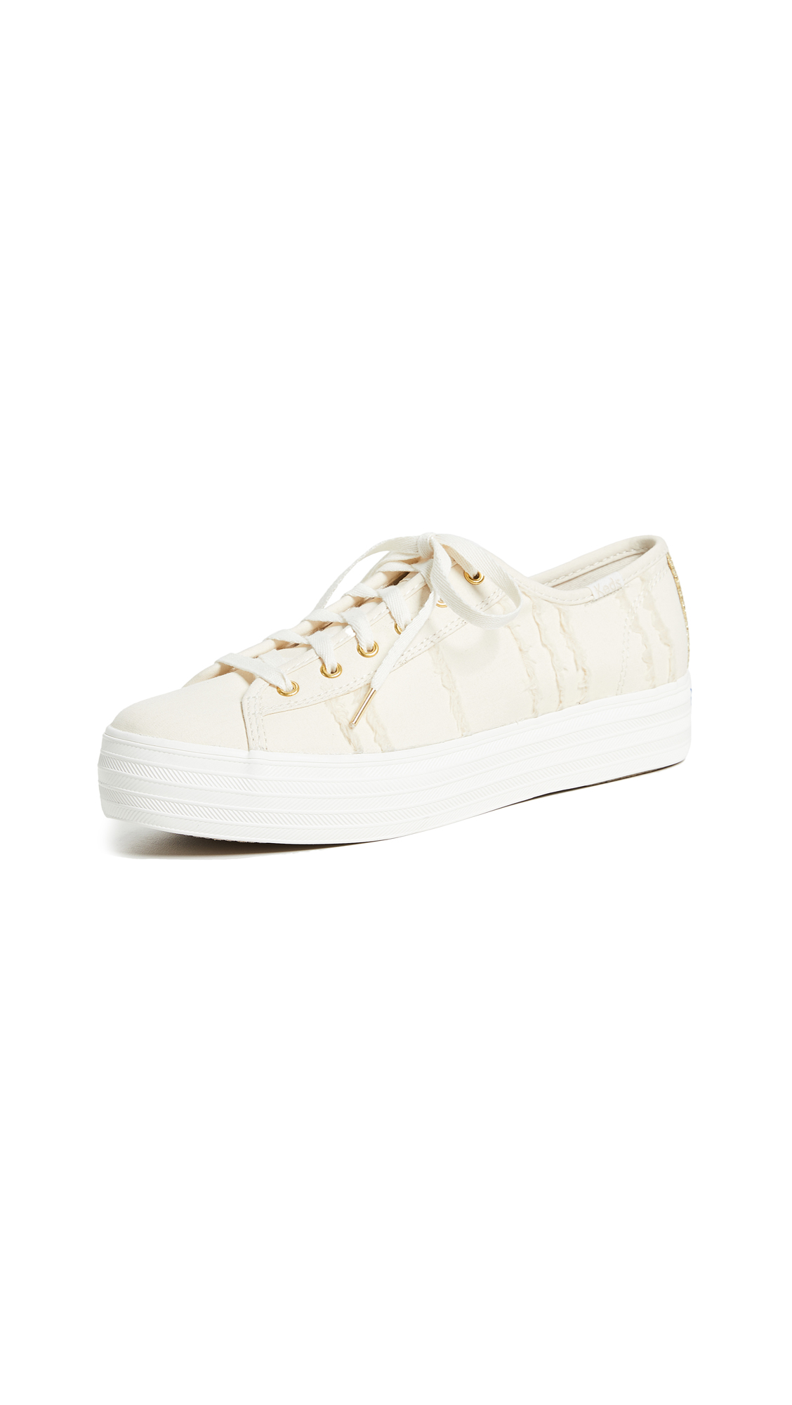 Keds Triple Kick Eyelash Lace Up Sneakers - Cream