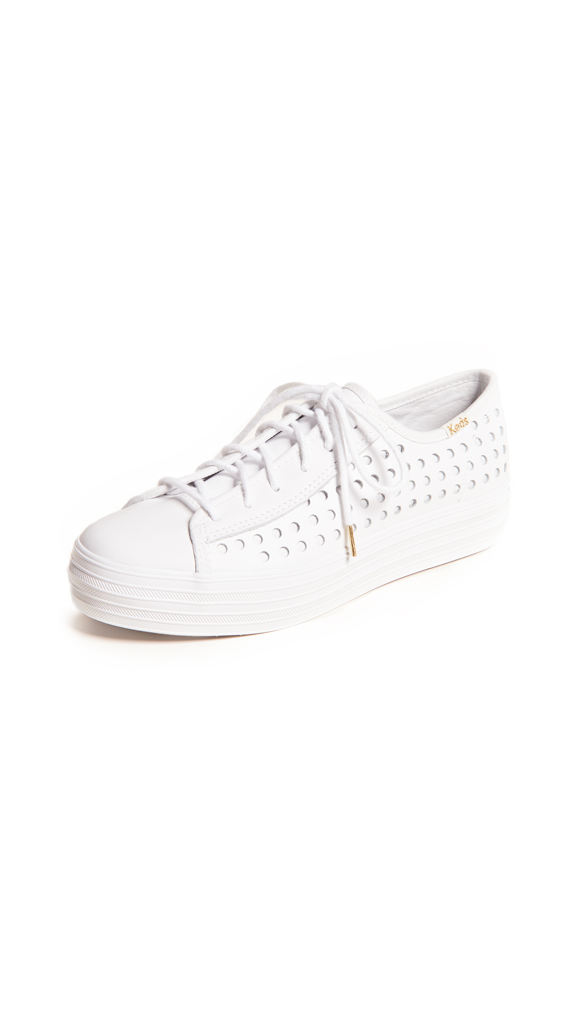 TRIPLE KICK PERFORATED SNEAKERS